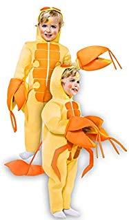 disfraz niño escorpión amarillo pinzas naranjas