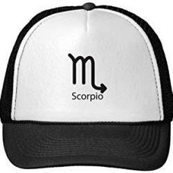 signo zodiaco escorpio gorra blanca y negra